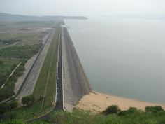 Hirakud Dam is built across the Mahanadi River near Sambalpur