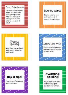 I Love 2 Teach: Multi-Sensory Spelling Activity Cards {Freebie}