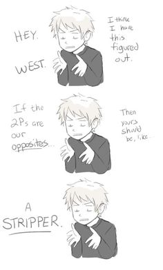 West and Gil. XD - Hetalia Germany and Prussia ...Well then xD  Although Gil does make a point xD