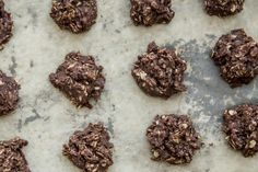 A classic we'd like to revisit sometime very soon: chocolate peanut butter no-bake cookies.