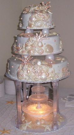 fountain wedding cakes designs | Memory In Motion, LLC ~ Wedding Cakes