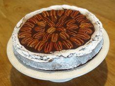 Zachte Callebaut chocoladetaart met geroosterde pecannoten