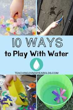 Trying to keep the kids cool this summer? Here are 10 ways toddlers and preschoolers can have… Trying to keep the kids cool this summer? Here are 10 ways toddlers and preschoolers can have fun with water activities! Activities For 2 Year Olds, Abc Activities, Summer Activities For Kids, Summer Kids, Preschool Water Activities, Weather Activities, Preschool Themes, Summer School, Preschool Crafts