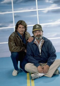 Michael Landon as Jonathan Smith Victor French as Mark Gordon Photo by Ron Tom/NBCU Photo Bank Michael Landon, Victor French, Jonathan Smith, Teenage Werewolf, Family Tv, Comedy Tv, Famous Couples, Classic Tv, Old Movies