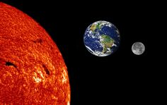 images of earth moon and sun - Google Search