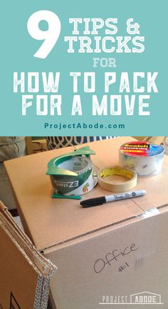 9 tips & tricks for how to pack for a move. Learn how to stay organized with a spreadsheet and keep track of your stuff. And learn how to pack your dishes! Moving Checklist, Moving Tips, Moving Hacks, Lets Move, Big Move, Packing To Move, Packing Tips, Moving Truck Rental, Moving New House