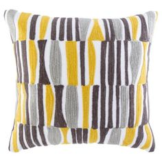 Arai Pattern Cushion In Yellow