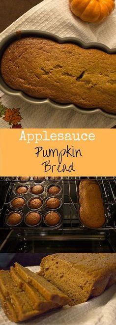 Applesauce pumpkin bread