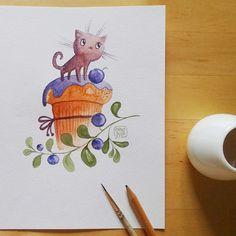 Blueberry cupcake kitty