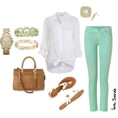 """""""More than a Hint of Mint"""" by sarahtcole on Polyvore"""