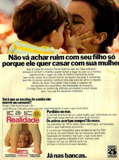 Revista Realidade #Brasil #anos70 #retro #anunciosAntigos #vintageAds