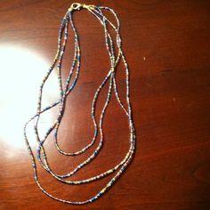 4 Strand Multicolored Necklace- Choker Length.