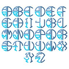 Round Stacked Monogram TrueType Font - Keyboard Typeable You get two file formats: .otf OpenType and .ttf TrueType Fonts are NOT vectored graphics but fonts you actually type out. Once installed on your computer, you can type them in any program. Graffiti Lettering Fonts, Creative Lettering, Script Lettering, Lettering Styles, Lettering Design, Logo Design, Lettering Tutorial, Calligraphy Fonts, Monogram Alphabet