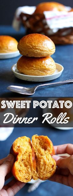 These Sweet Potato Dinner Rolls are light and fluffy with a hint of warm cinnamon. They will make a wonderful addition to your holiday menu this season. | wildwildwhisk.com