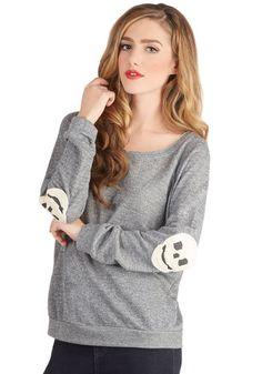 I love the skulls! Rad to the El-bone Sweater, #ModCloth