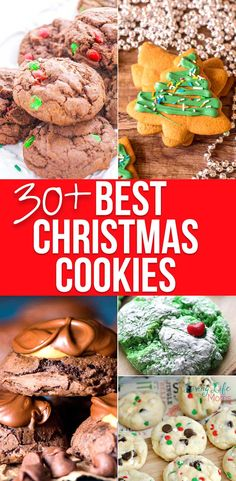 Need a new cookie recipe? Try this mouth-watering list of 30+ best Christmas cookies recipes to try this holiday season and add a new cookie recipe to your family favorites. #Christmascookies #cookies #dessert #Christmas #LivingLifeasMoms Easy Holiday Cookies, Best Christmas Cookie Recipe, Cookies For Kids, Healthy Cookie Recipes, Healthy Cookies, New Recipes, Chocolate Chip Cookies, Christmas Fun, Dessert