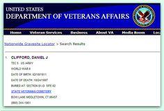 Veterans Cemetery, Veterans Services, Cemetery Records, Family Tree Research, Genealogy Websites, Military Records, Department Of Veterans Affairs, Family Trees, Family Genealogy