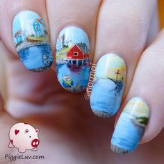 Peggy S Cove Nail Art Inspired By Raymond Edmonds