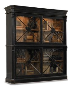 Hooker Furniture - Bookcase in Ebony and Drift Finish