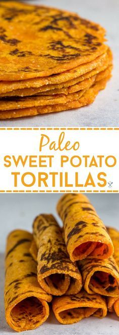 These grainless, eggless, paleo sweet potato tortillas are the perfect healthy alternative for flour or corn tortillas. Simple ingredients and freezer friendly.