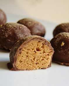 A friends of mine made these peanut butter balls and they were to die for delish!!