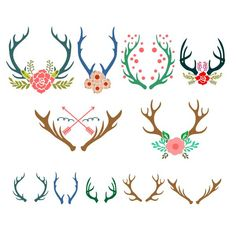 Antlers Reindeer Pack Cuttable Design Cut File. Vector, Clipart, Digital Scrapbooking Download, Available in JPEG, PDF, EPS, DXF and SVG. Works with Cricut, Design Space, Cuts A Lot, Make the Cut!, Inkscape, CorelDraw, Adobe Illustrator, Silhouette Cameo, Brother ScanNCut and other software.