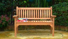 Westminster-flat-armed-150cm-teak-garden-bench