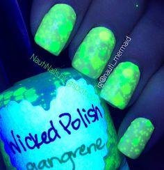 SERUM NO. 5 Day Glow & WICKED POLISH Gangrene