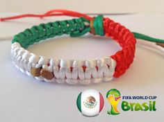 MEXICO flag WORLD CUP Brazil 2014 Green White Red Brown by SmeRuci, $6.50
