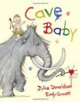 Read Cave Baby then do cave art / splatter painting /  on a wall covered with brown paper or sandpaper.