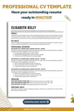 Get a professional student CV template and get noticed, QUICKLY! You can keep applying with a badly formatted CV, but it won't get you far. Showcase your starting career history with a better CV design layout and CV format. Download this student CV template, edit in Microsoft Word and land the job! Creating a stand out curriculum vitae can be easy! Cv Template Student, Simple Resume Template, Resume Templates, Curriculum Vitae Format, Good Cv, Job Resume Examples, Cv Format, Resume Writing Tips, Professional Cv