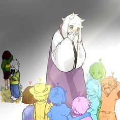 Toriel and her children, the Lost Souls. Plus Chara, Asriel, and Frisk.>>>> :00000 This is truly amazing!!!