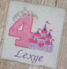 Princess Crown Castle Birthday Shirt by momof5hs63 on Etsy