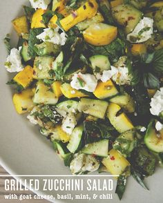Grilled Zucchini Salad By President Cheese // A Sponsored Post