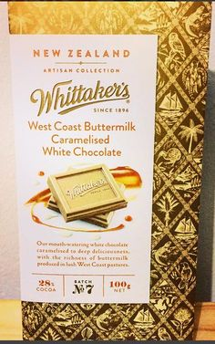 This West Coast Buttermilk Caramelized White Chocolate was to die for. It had an almost Honey taste to it. Can't wait to try the other flavors Caramelized White Chocolate, West Coast, Cocoa, Artisan, Candy, Craftsman, Theobroma Cacao, Sweets, Hot Chocolate