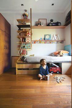 Tom's compact bedroom via Dwell