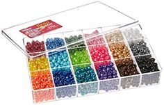 #happy Beadery-bead #extravaganza box: pearl mix. This package contains approximately 2300 plastic pony beads each measuring 1/4x1/4 #inch. There are eighteen col...