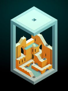 Monument Valley 2 is an illusory adventure of impossible architecture and forgiveness by ustwo games Illustration Story, Digital Illustration, Graphic Illustration, Isometric Art, Isometric Design, Pixel Art, Monument Valley Game, Game Ui Design, 2d Design