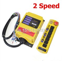 166.00$  Watch here - http://alic14.shopchina.info/go.php?t=32803444730 - Free Shipping 1 Transmitter 7 channels 2 Speed Truck Control Hoist Crane Remote Control Push Button Switch System with E-stop  #magazineonline