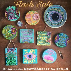 Flash Sale now through Monday! 20% off at checkout! Enter code: NEWYEAR2017