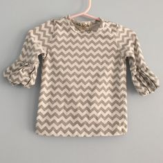 Matilda Jane Little Girl's Chevron Puff Shirt Excellent condition little girls Matilda Jane shirt!  What a cute, comfy and stylish shirt. It is perfect for any season! Size 12 months Matilda Jane Other