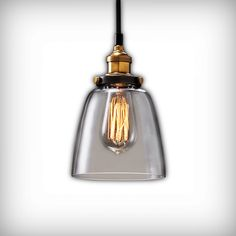 Small Factory Glass Pendant Light | Cult UK