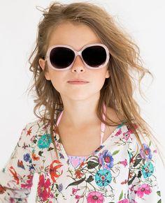 Stella Cove | Dusty Pink Bardot Glitter Sunglasses