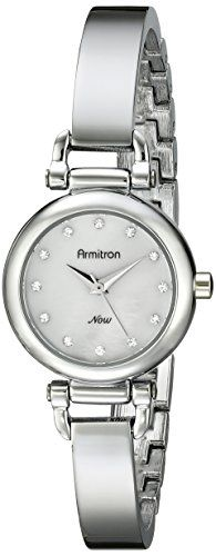 Armitron Womens 755269MPSV Swarovski Crystal Accented SilverTone Bangle Watch >>> Details can be found by clicking on the image.Note:It is affiliate link to Amazon.