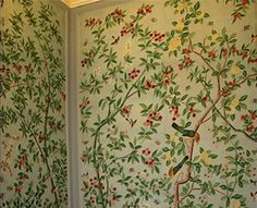 hand painted wallpaper, chinoiserie wallpaper, chinese wallpaper, chinese funiture, hand painted funiture, antique funiture