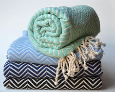 CHEVRON TURKISH TOWEL  Organic Cotton Pure Soft Cotton