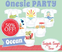 DIY Baby Shower - ONESIE PARTY - Ocean Themed - girl themes boy themes, more