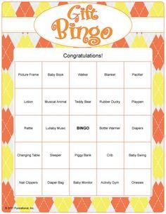 Baby Shower Gift Bingo