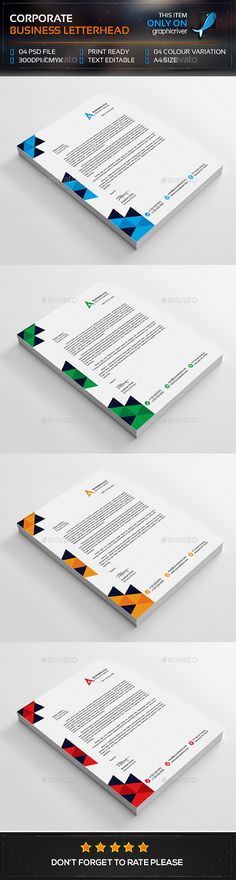 Corporate Letterhead Design Pinterest Letterhead, Design web - business letterhead