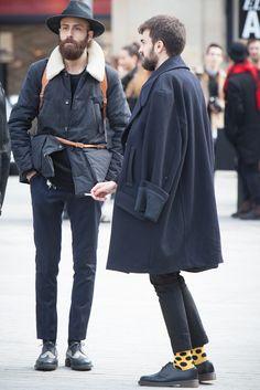 Beard hair hat coat jacket tumblr Style streetstyle men
